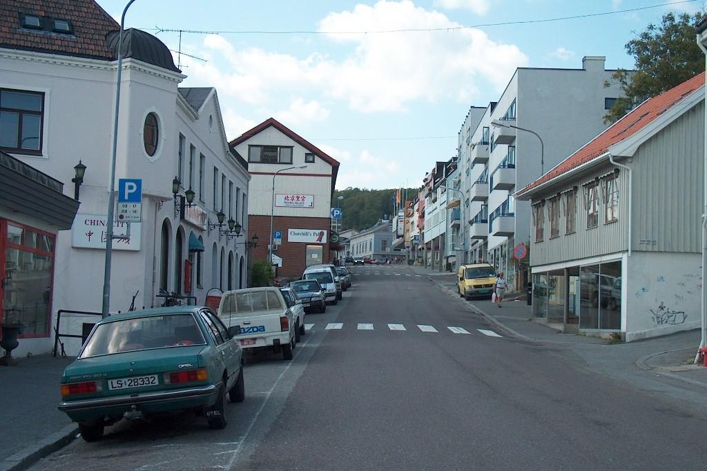 Straße in Larvik.
