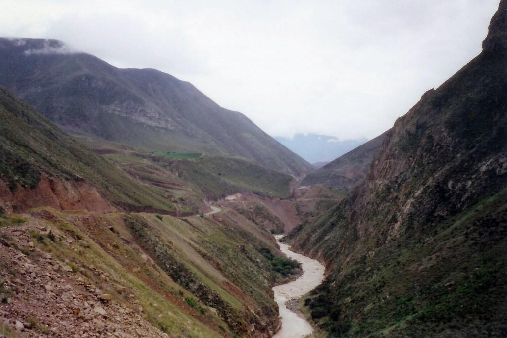 Talfahrt entlang des Jubones nach Pasaje