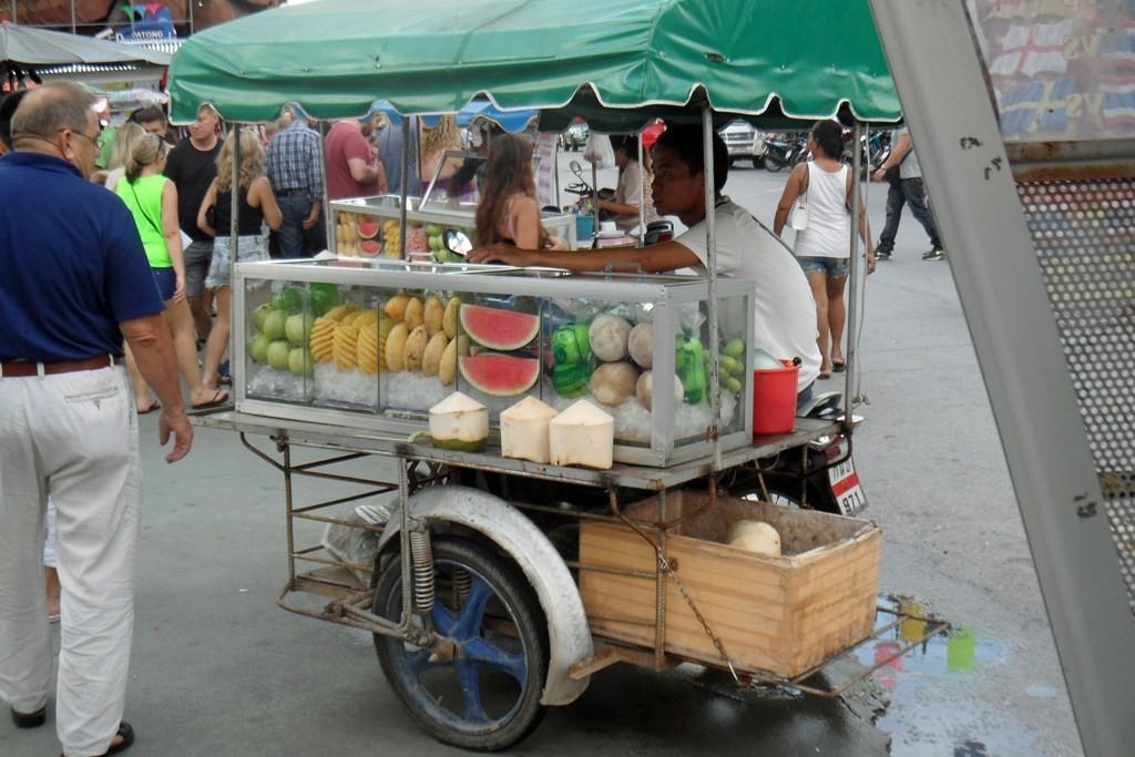 Der mobile Händler, egal an welchem Ort, ist stets momentan