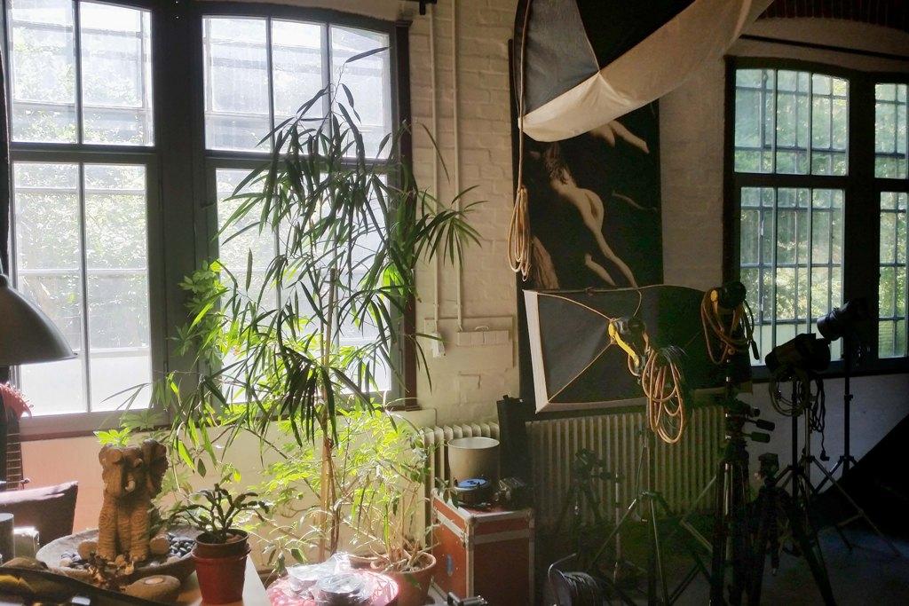 Detailansicht des großräumigen Ateliers, schön schön stellten wir fest!