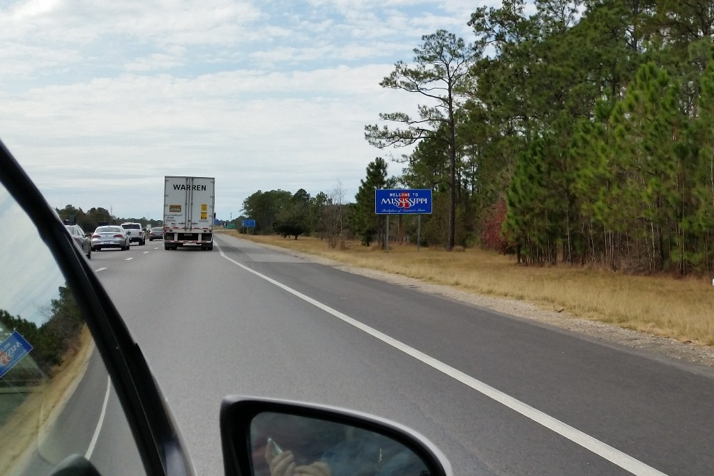 ...der Bundesstaat Mississippi wird passiert!