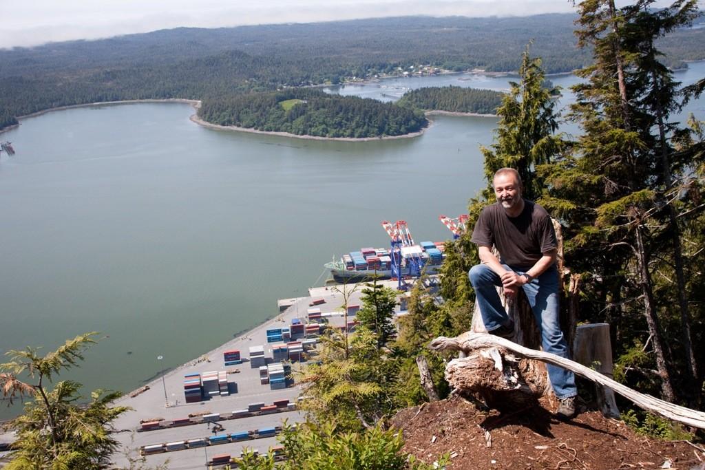 Blick vom   auf Price Rupert, sie liegt in der westkanadischen Provinz British Columbia und hat etwa 13.500 Einwohnern