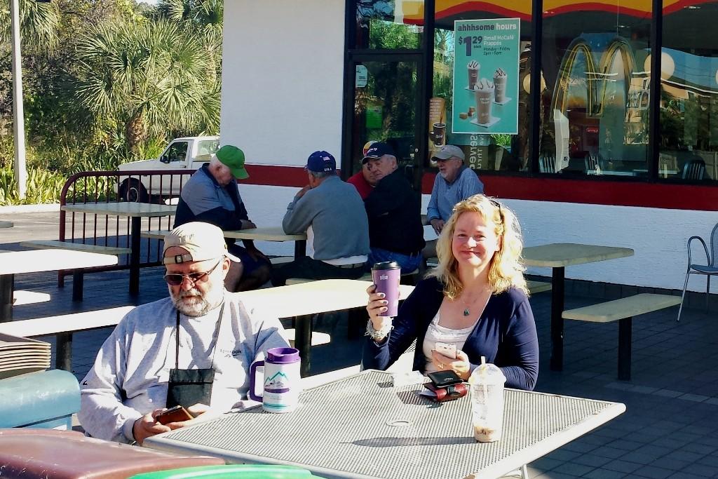 """Letzte Kaffeepause bevor wir am Nachmittag unsere Villa """"Akira""""in Cape Coral erreichten"""