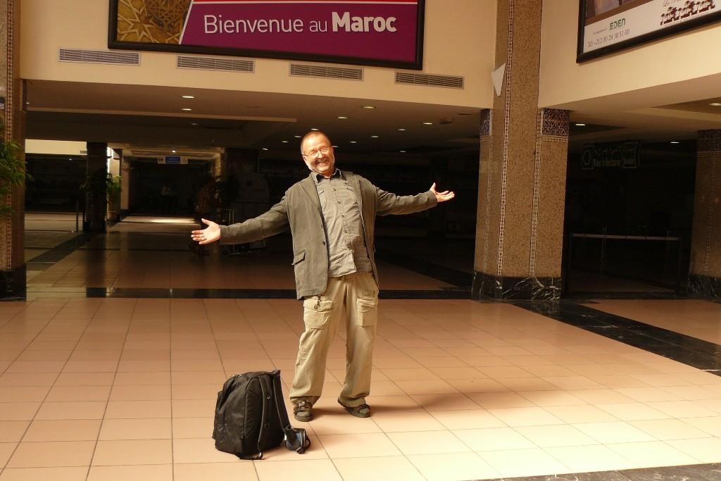...hi und happy, zum ersten Mal in Marokko!