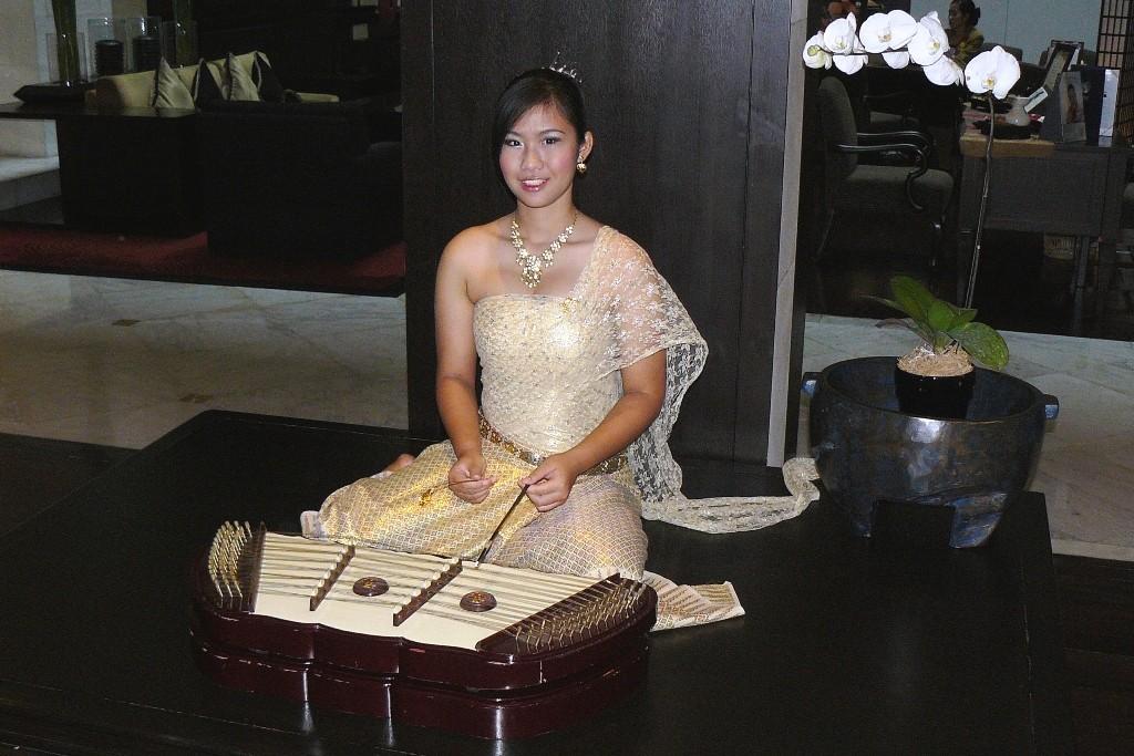 Ein wunderschöner Empfang von einer Thai Dame im Marriott Hotel