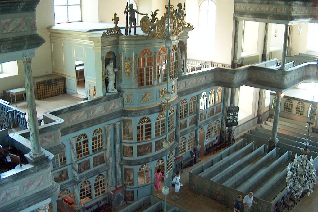 Detailansicht vom Inneren der Kirche.