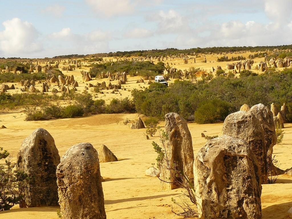 Der erst längere Aufenthalt fand im Nambung NP, in und an den Pinnacles bei Cervantes statt