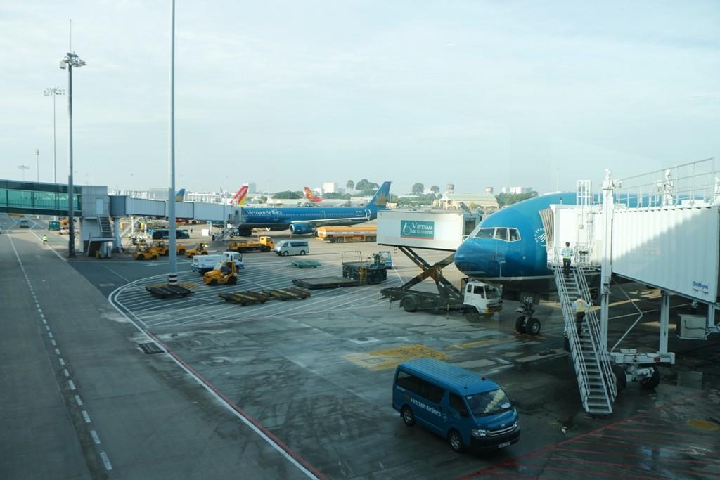 Ankunft - Zwischenlandung in Ho Chi Min City