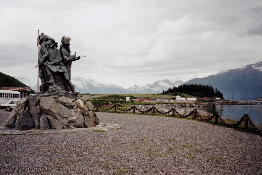 Das Oil Memorial in Valdez