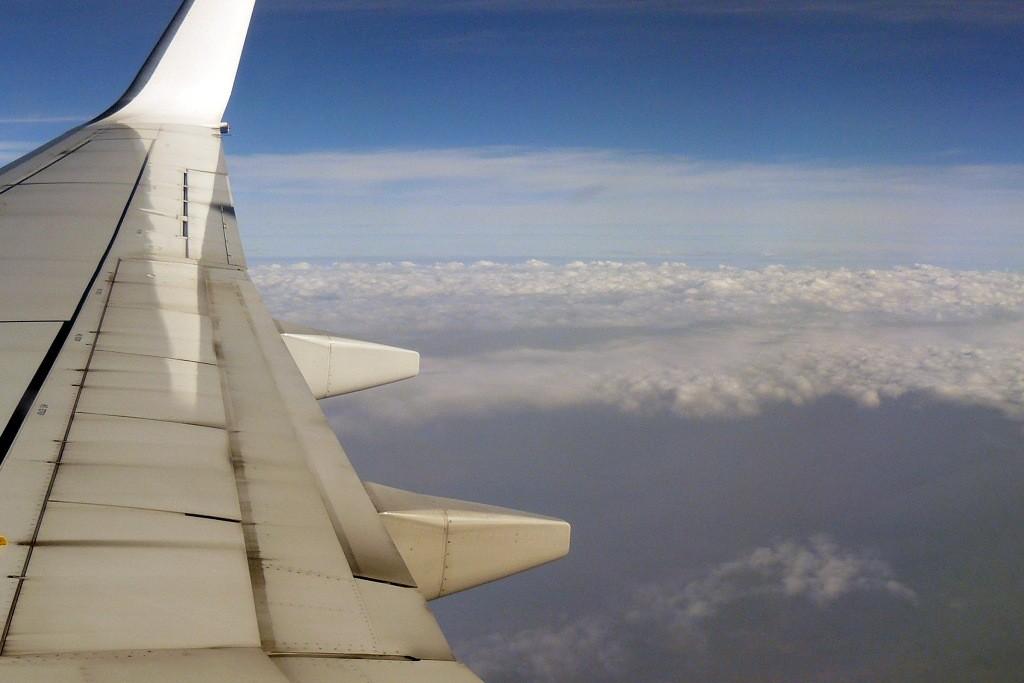 ...über Marokko kurz vor der Landung