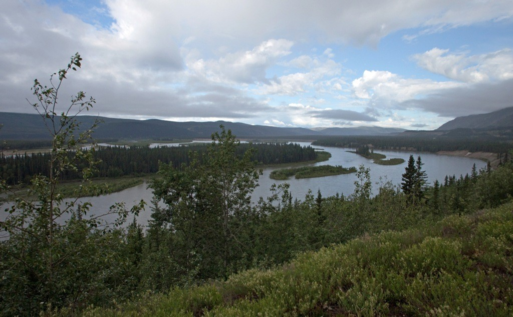 Das faszinierende Yukon Valley vor Pelly Crossing