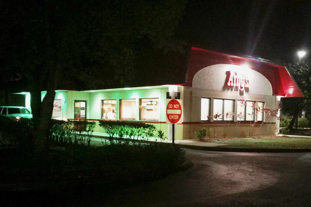 Unser erstes Fastfood Abendbrot in den Staaten bei Arby´s, es hatte uns allen geschmeckt!