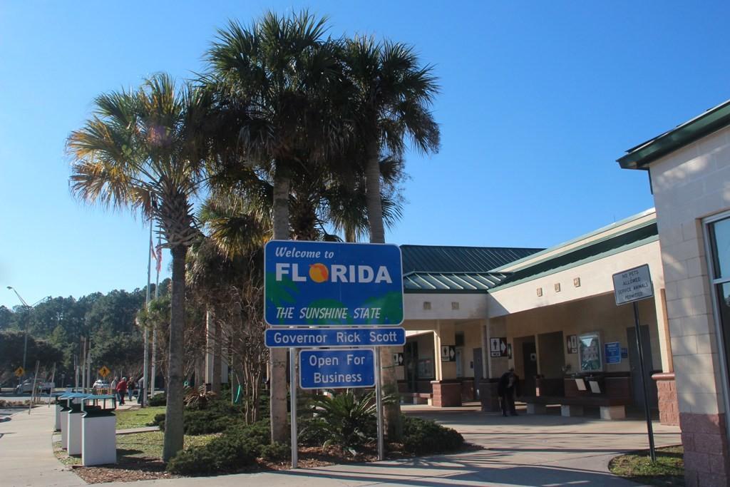 Wir betreten das Territorium des Bundesstaates Florida