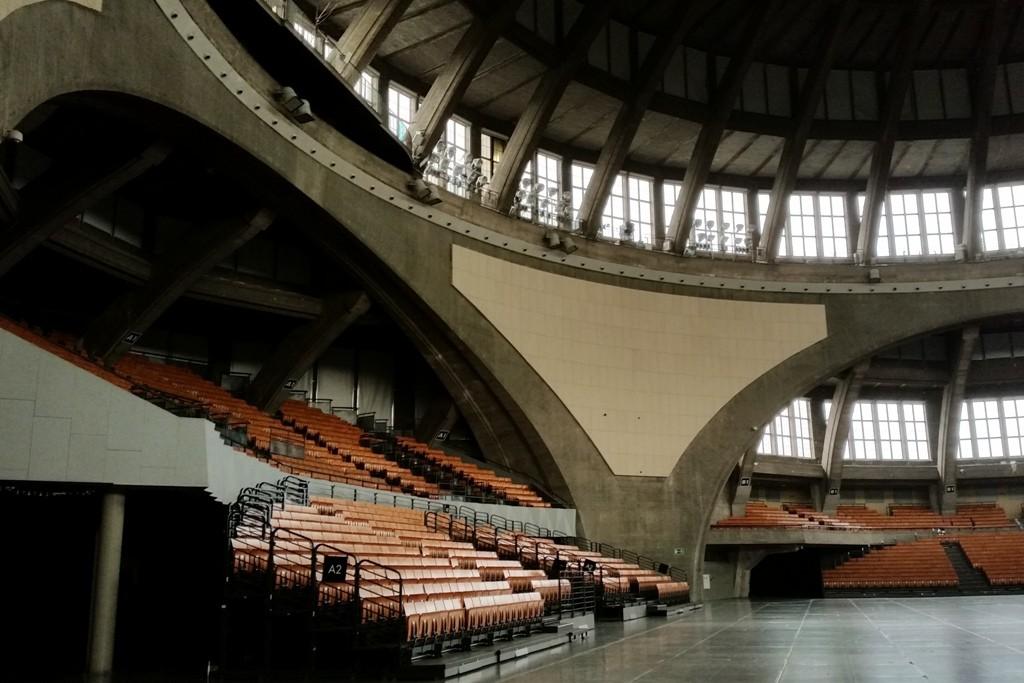 Detailfotografien des Innenraumes der imposanten Jahrhunderthalle