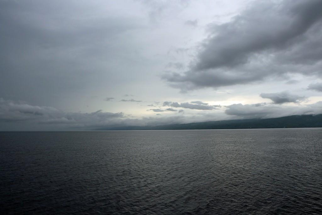 Die Tanon Strait mit Wolken vergangenen Himmel!