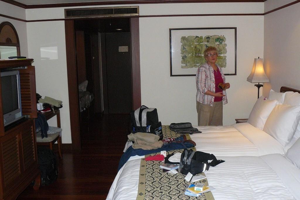 Wir waren fürstlich untergebracht, ein Bett hätte auch gereicht, so groß waren sie