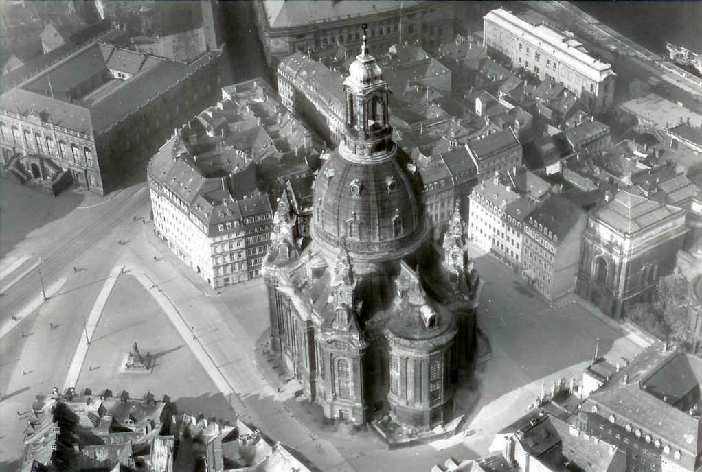 Dresden - Frauenkirche, Luftbild