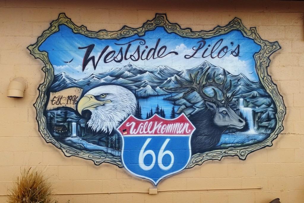 ...handgemaltes Wappen von Lilo´s Westside Cafes!