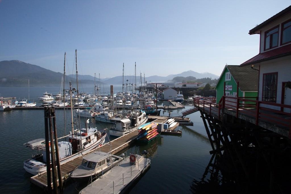 Teilansicht des alten Hafens von Prince Rupert