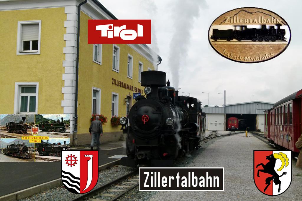 Am Bahnhof zu Jenbach beginnt die 32 km lange Zillertalbahn und endet in Mayrhofen.