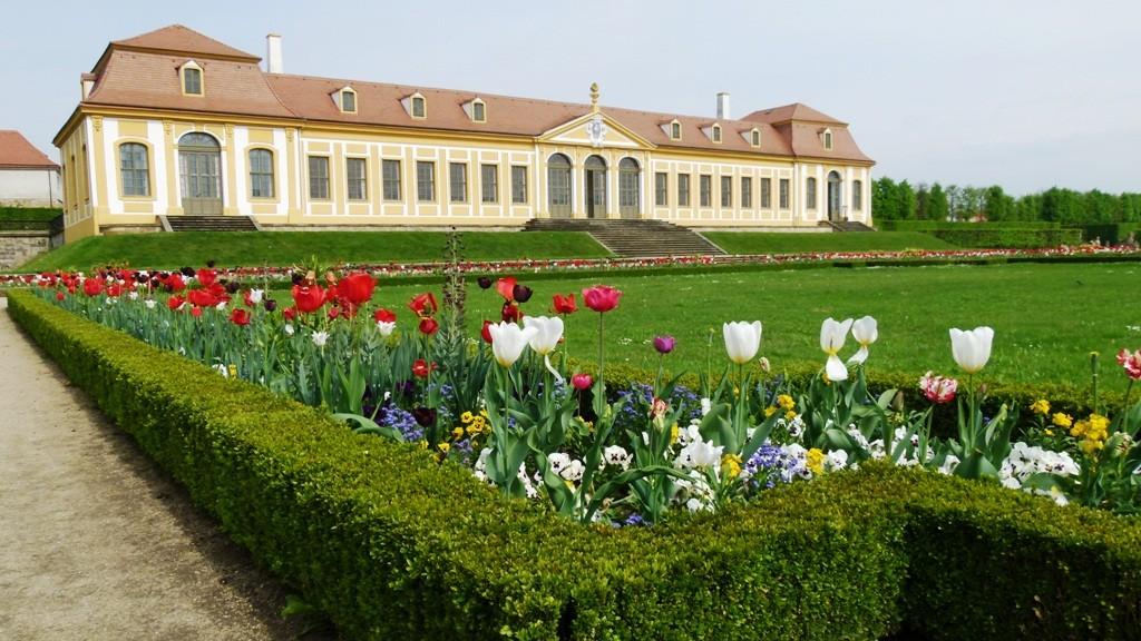 Oberes Galeriegebäude im Frühling