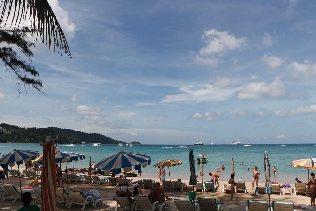 Blick auf die Bucht von Patong!