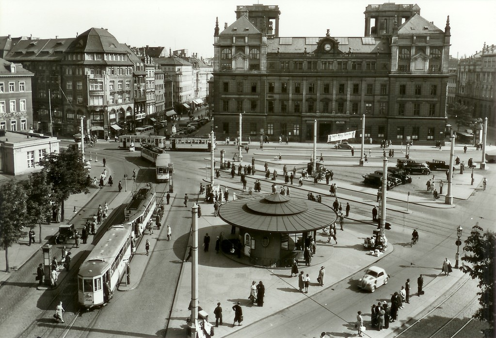 Dresden - Postplatz, Käseglocke, Telegraphenamt