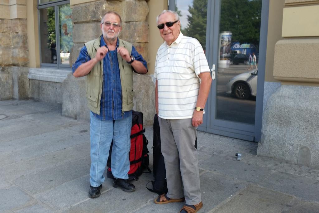 Dieter und Andreas vor der Abreise nach Konstanz, alles per Bahn und tadellos!