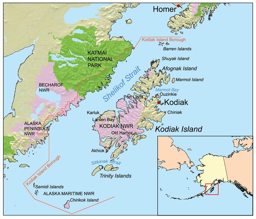 Karte von der herrlichen Insel