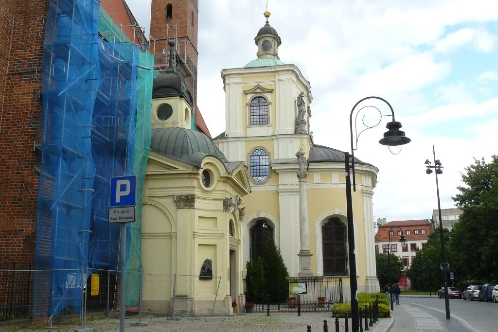 Die Kirche. St. Vincent und James vor der Kathedrale der Diözese von der Breslauer - Gdansk