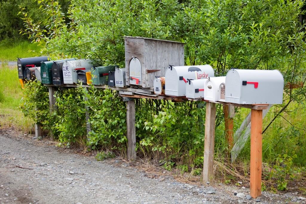 Briefkastenbatterie in Talkeetna