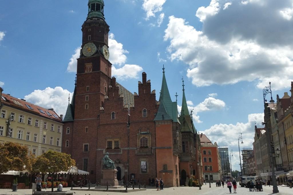 Das historische Rathaus auf dem Rynek in Breslau (Wrocław) - Umbau 1470 bis 1480