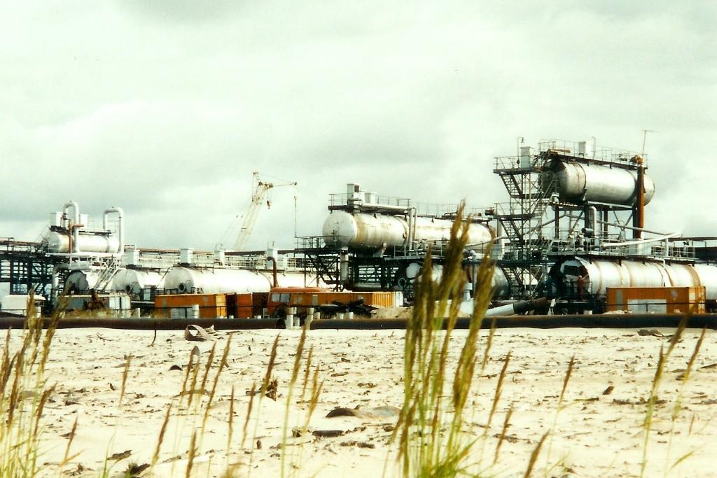 Das Detail des Bauabschnittes innerhalb des Öl/Gasfeldes, wo sich die von uns zu sanierenden Behälter befanden