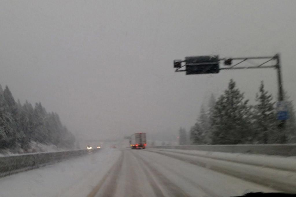 Nebel, Eis, Schnee und eine hohe Frequenz an Brummis auf der I 80!