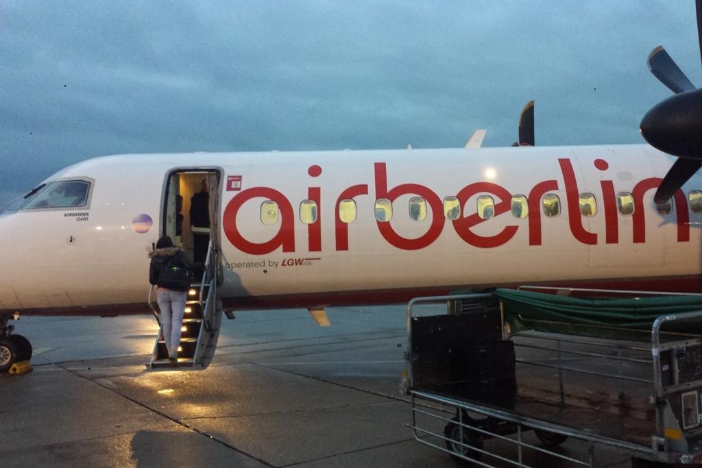 Annett und Udo waren mit der Air Berlin unterwegs, da hatte ich was Flugkomfort anbelangt mehr Glück!