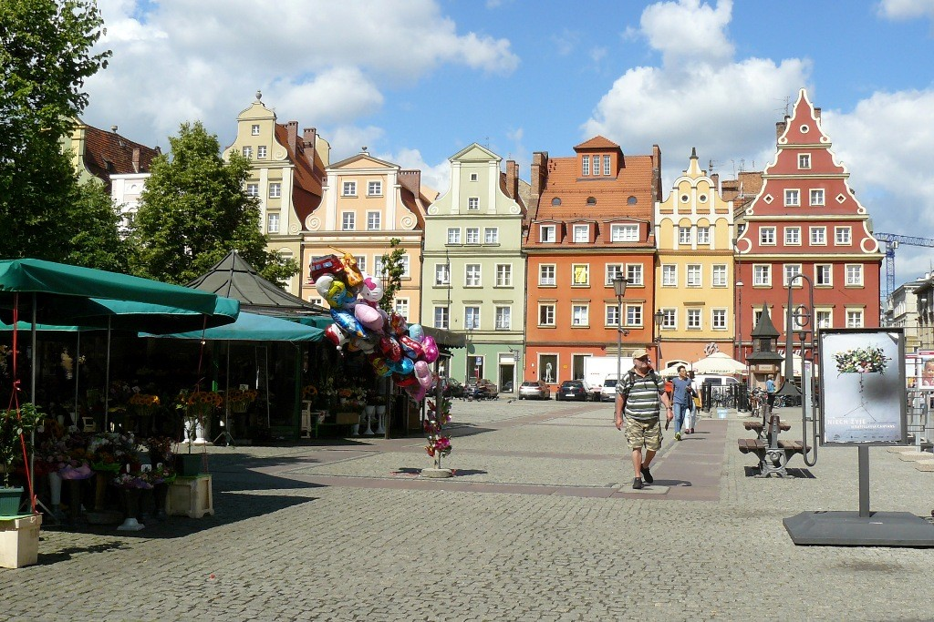 Der Salzplatz Plac Solny mit dem Blumenmarkt