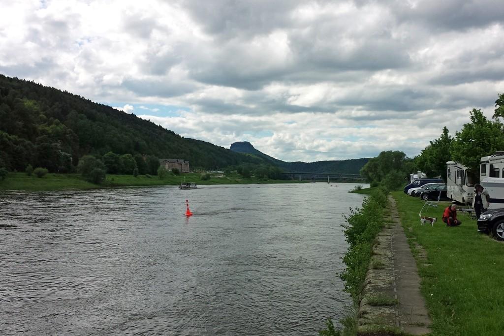 Ausblick auf den Lilienstein von Bad Schandau aus