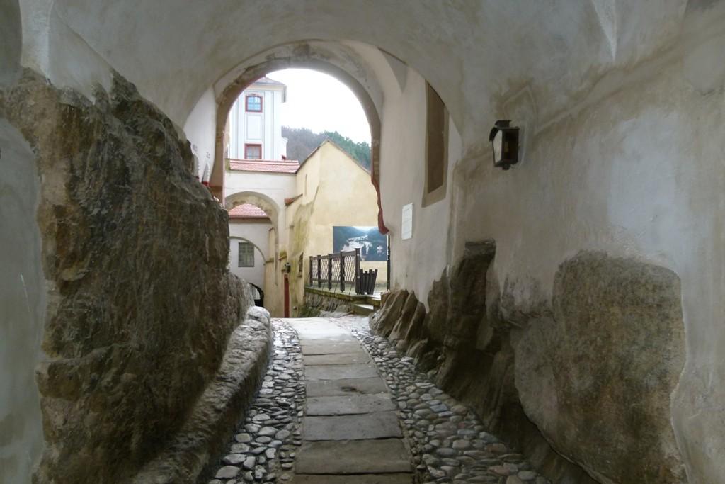 Aufgang vom oberen Schlosshof gesehen