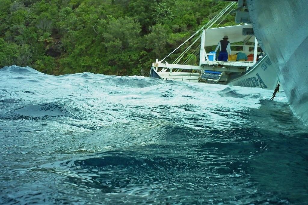 Tauchboot der anderen Crew beim Auftauchen fotografiert!