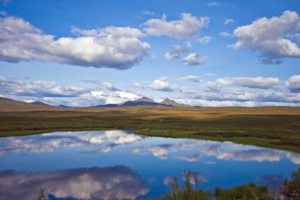 Der Lake am Rande des HWY in Blickrichtung Osten, da muss man einfach anhalten und knipsen