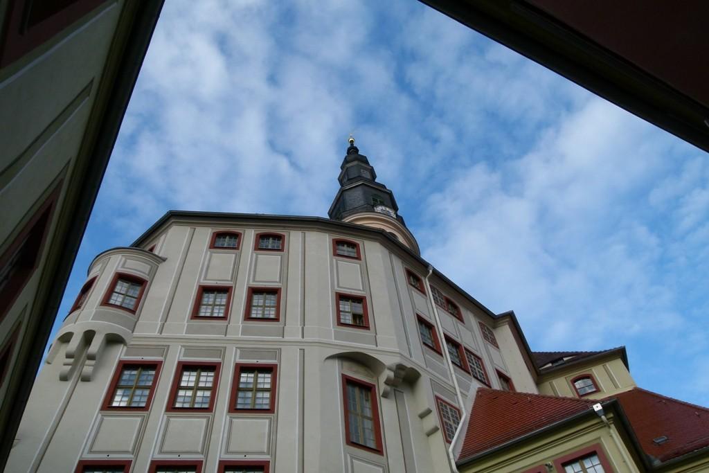 Unterer Schlosshof mit Blick zum Schlossturm