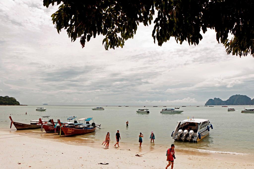 Blick von Koh Phi Phi Don auf die Ton Sai Bucht
