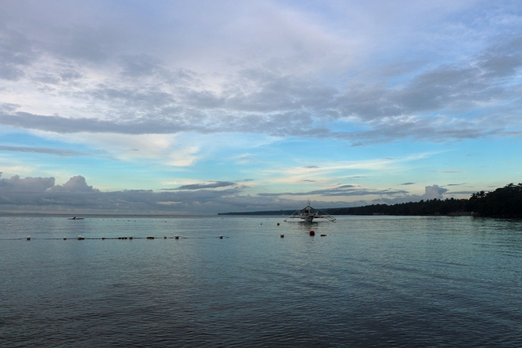 Blick vom Resort in Richtung Süden nach Zamboanguita