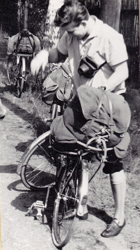 Panne bei der Radtour durch Nordböhmen 1964