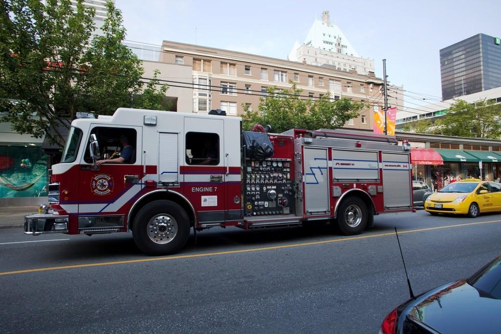 Feuerwehr auf der Robson Street