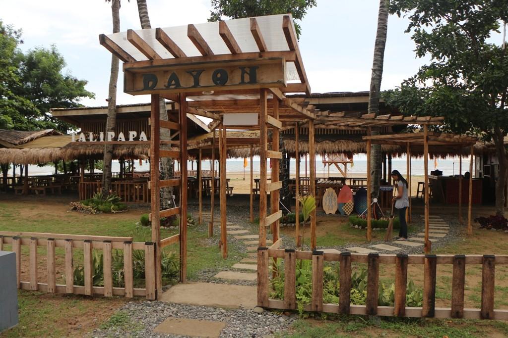 Eingang zur Strandbar bzw. zum Strandrerstaurant in Bayawan