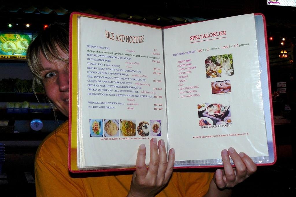 """Die Speisekarte, ein sehr leckeres """"Buch""""!"""