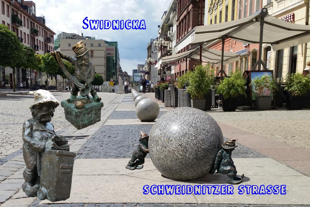 Aufmachercollage für die legendäre Schweidnitzer Straße