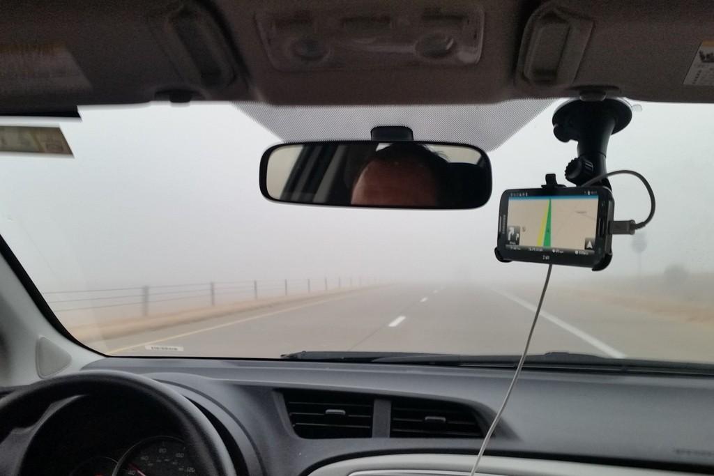 Wir fuhren durch dicken Nebel, es war shr anstrengend