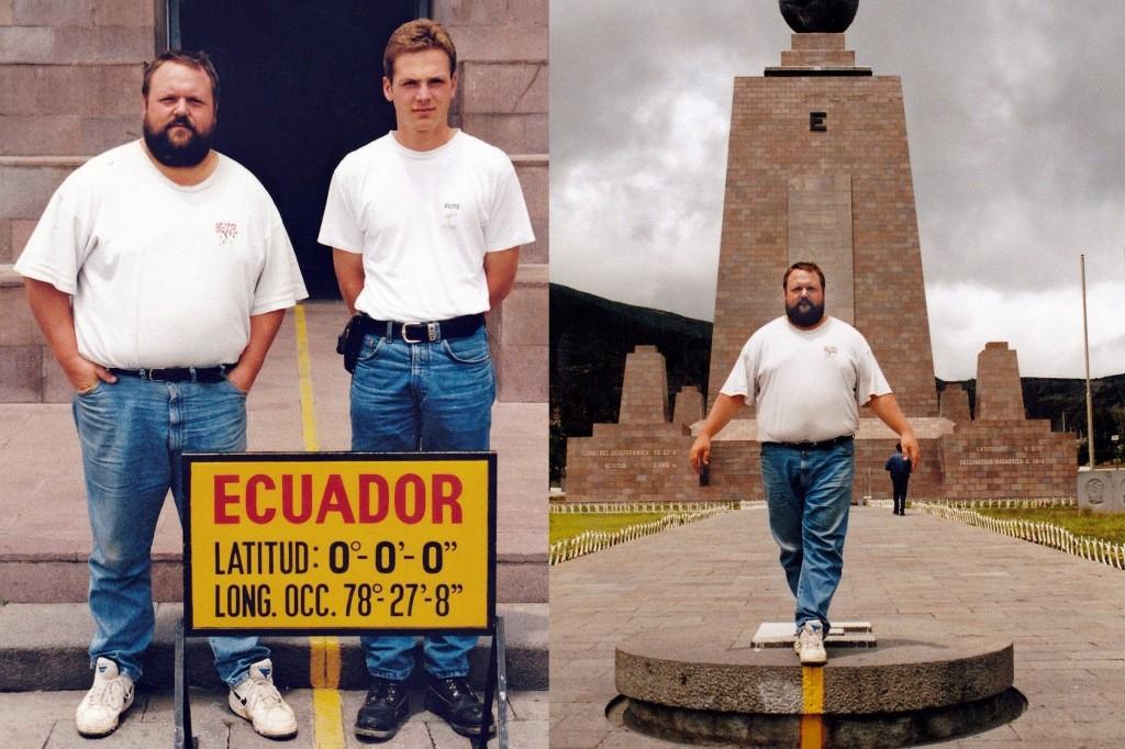 Erinnerungsfoto, Udo und Ingo vor dem Monument